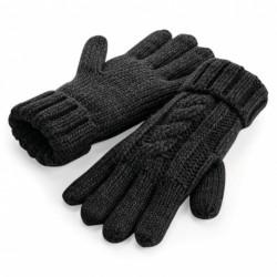 Cable Knit Melange Gloves Nr.222/4