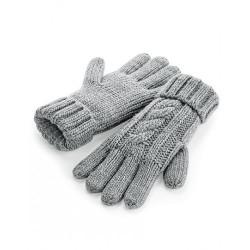 Cable Knit Melange Gloves Nr.251/1