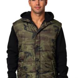 Hooded Fleece Sleeved Puffer Vest  Nr. 259/5